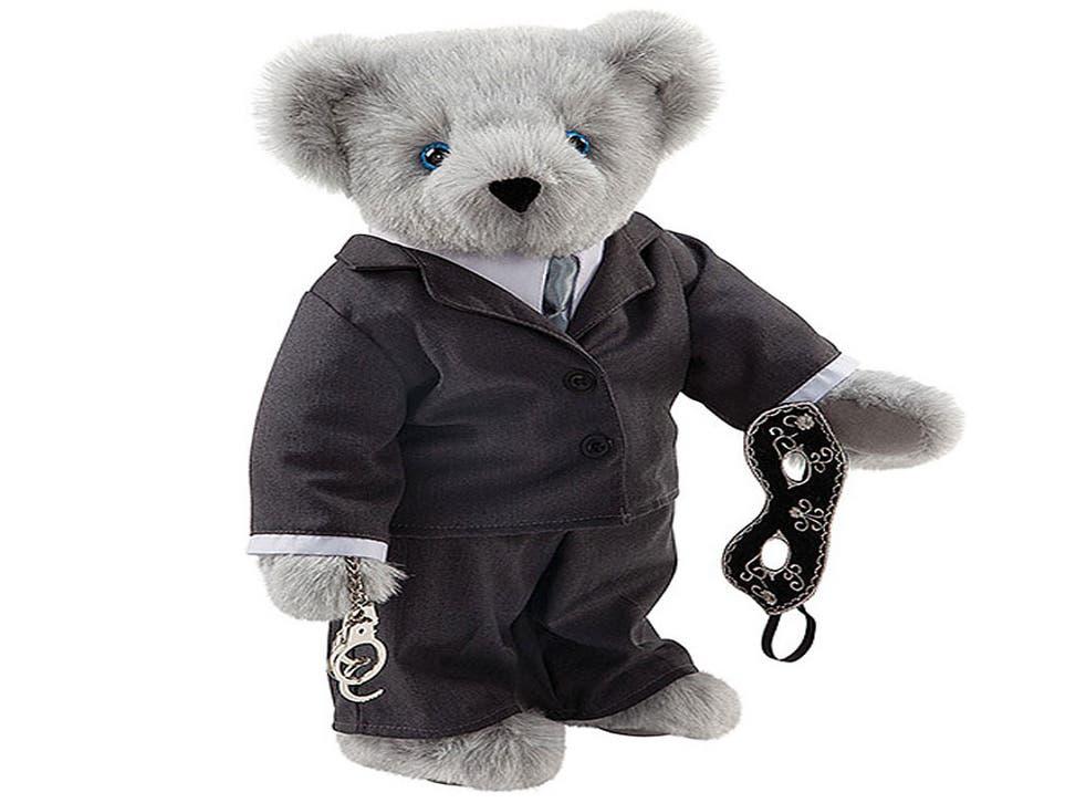 The teddy bear, released by American website Vermot Teddy Bears, is on sale for £53.99 ($89.99)