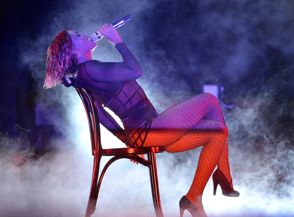 Will viewers see a repeat of Beyonce's raunchy Grammys performance when she performs at the Brit Awards tonight?