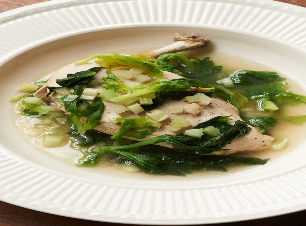 Chicken with celery is a healthy and simple main course to cook at home