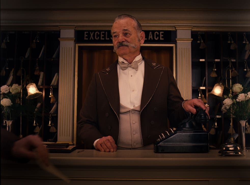 Lobby jobby: Bill Murray as a concierge in the inter-war farce The Grand Budapest Hotel, directed by Wes Anderson