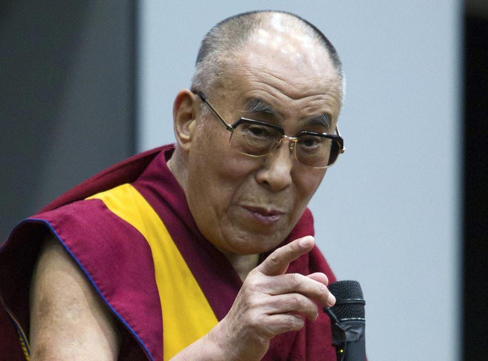"The Dalai Lama said homsexuality was ""individuals' business"""