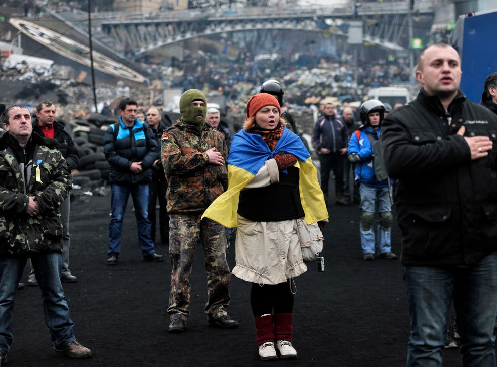 Protesters in Kiev, Ukraine: Corrupt regimes provoke unrest and create areas of instability