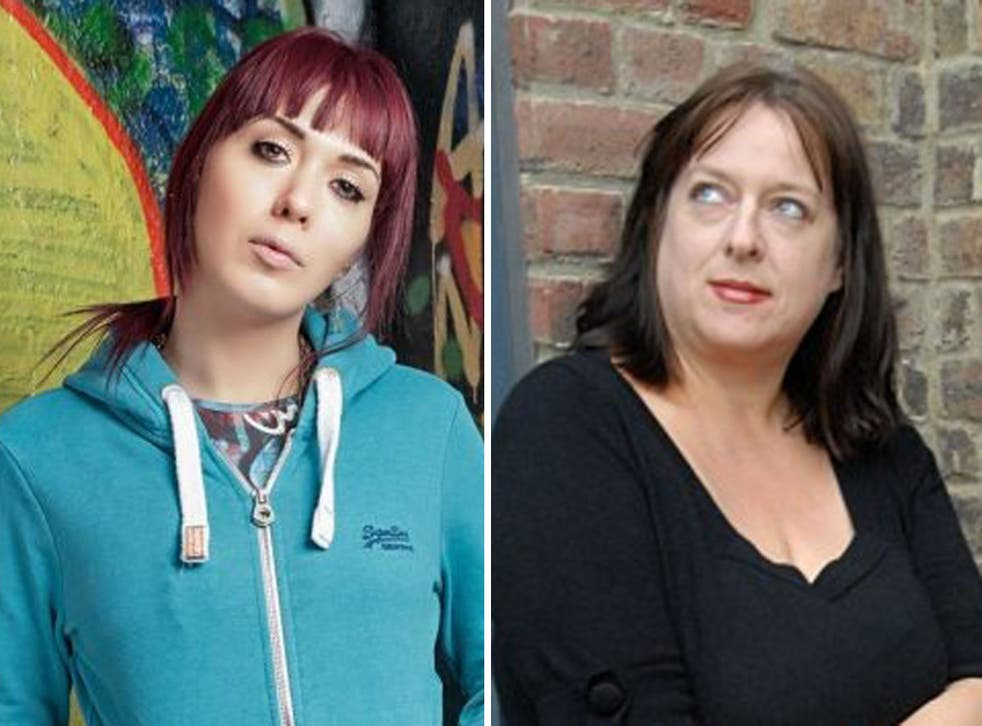 War of words: An article in The Spectator about 'intersectionality' by Julie Burchill (right) came out on the same day as the podcast with Paris Lees was recorded