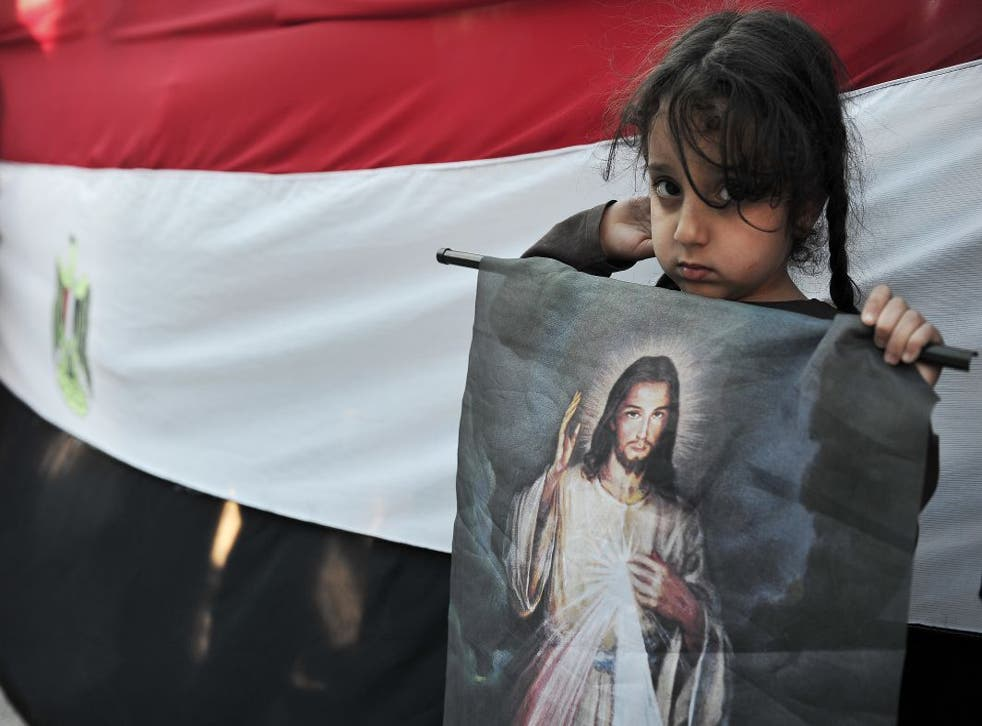 Arab Christians, like this Egyptian Coptic girl exiled in Greece, have left the Middle East in huge numbers