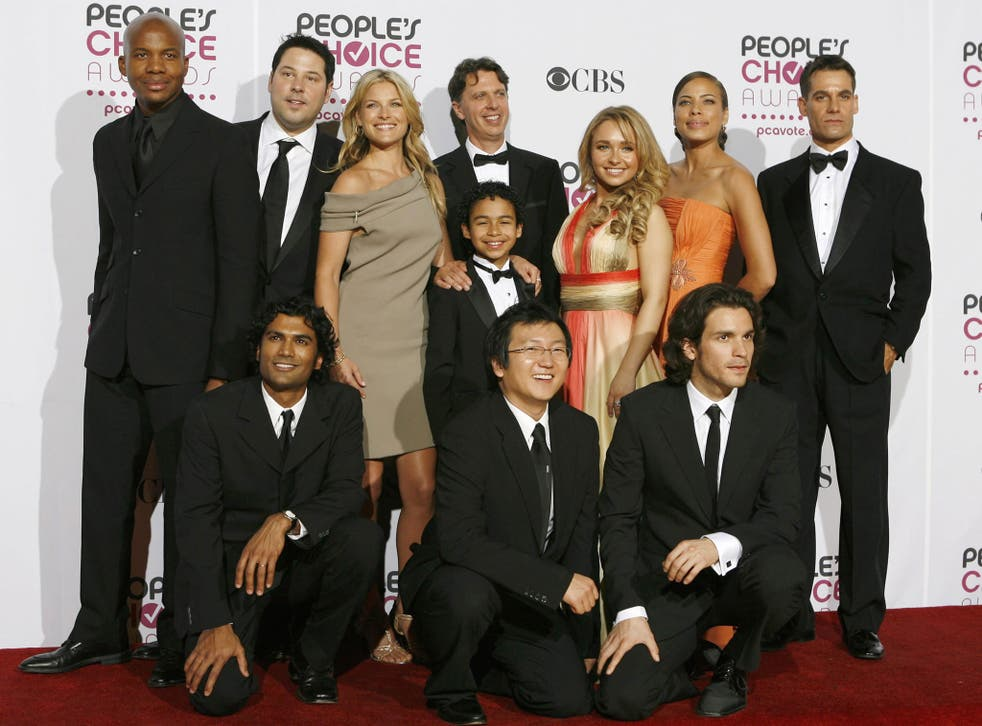 The cast of the original series of Heroes, which won favorite new TV drama at the 2007 People's Choice Awards