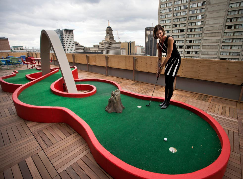 Mini golf on the roof? There are no handicaps when you work at Google