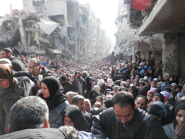 The Yarmouk refugee camp in Damascus