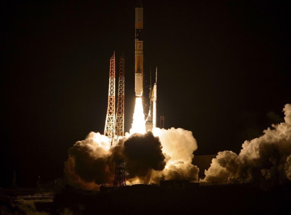 File image: A Japanese rocket launched by JAXA from the Tanegashima Space Center at Tanegashima, Japan