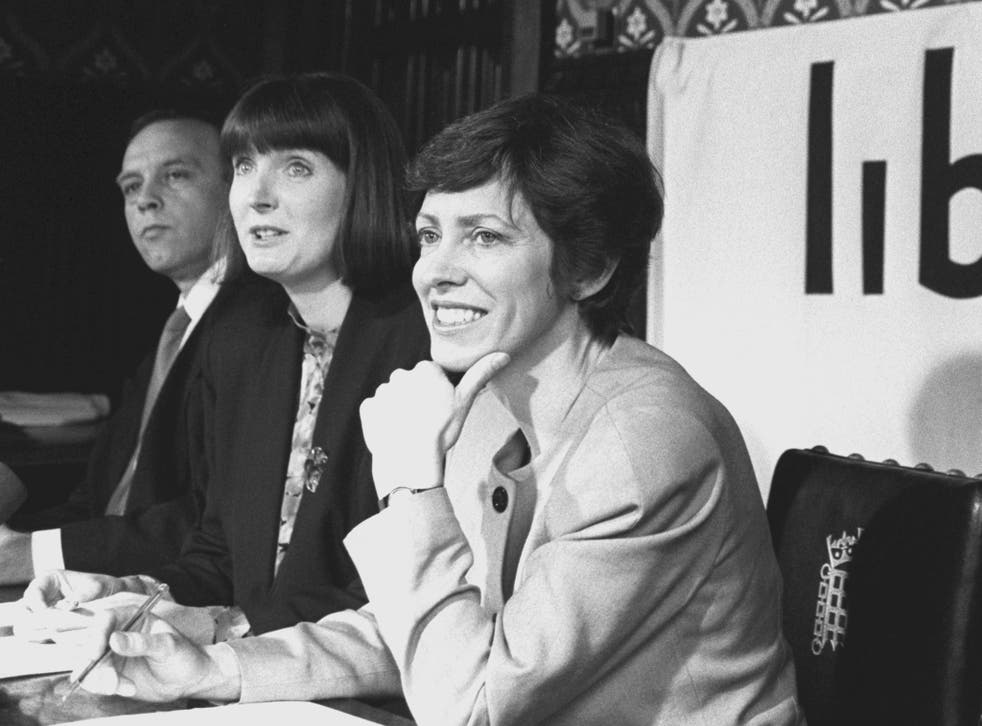 Harriet Harman (centre) and Patricia Hewitt (right) were members of the National Council for CivilLiberties (NCCL) which Anselm Eldergill resigned from due to its links to a paedophile group