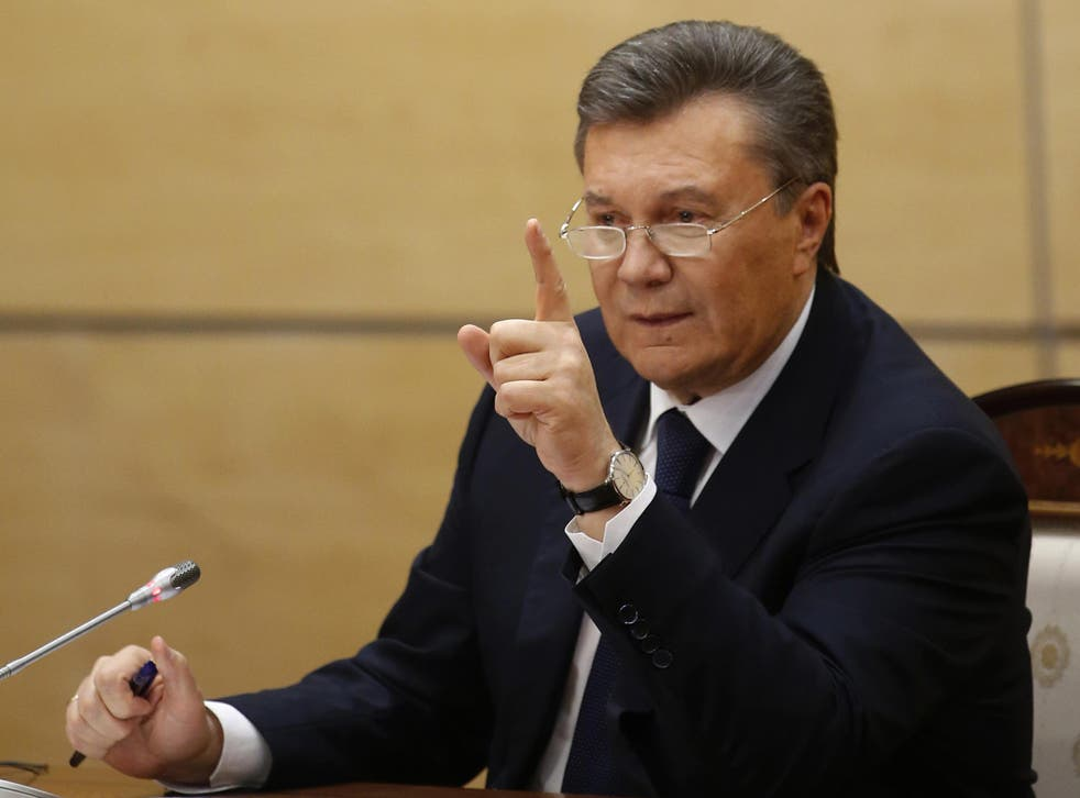 Ukraine's fugitive President Viktor Yanukovych has funnelled millions of pounds through London front companies