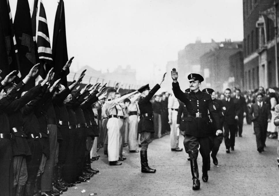 Right march: Sir Oswald Mosley's British Union of Fascists recruited fromthe working classes