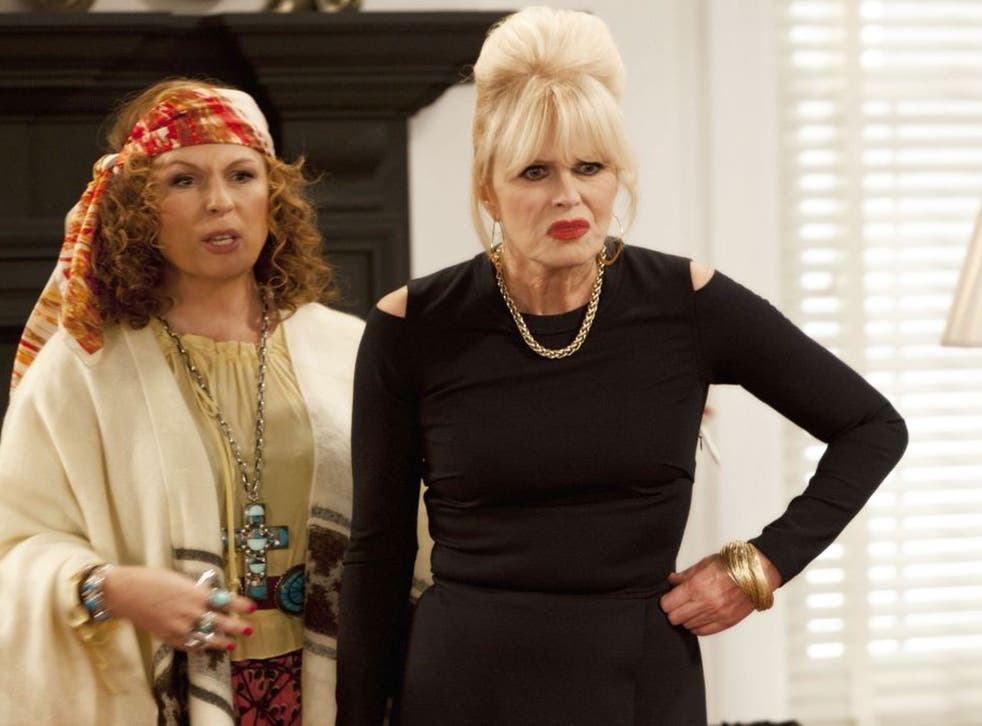Jennifer Saunders (left) and Joanna Lumley star in AbFab