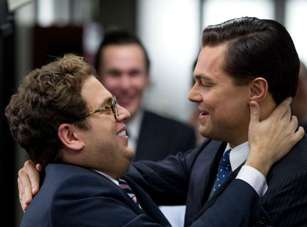 Leo DiCaprio and Jonah Hill star in The Wolf of Wall Street