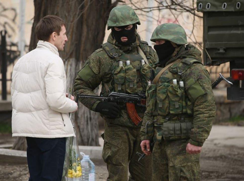 Soldiers in Simferopol