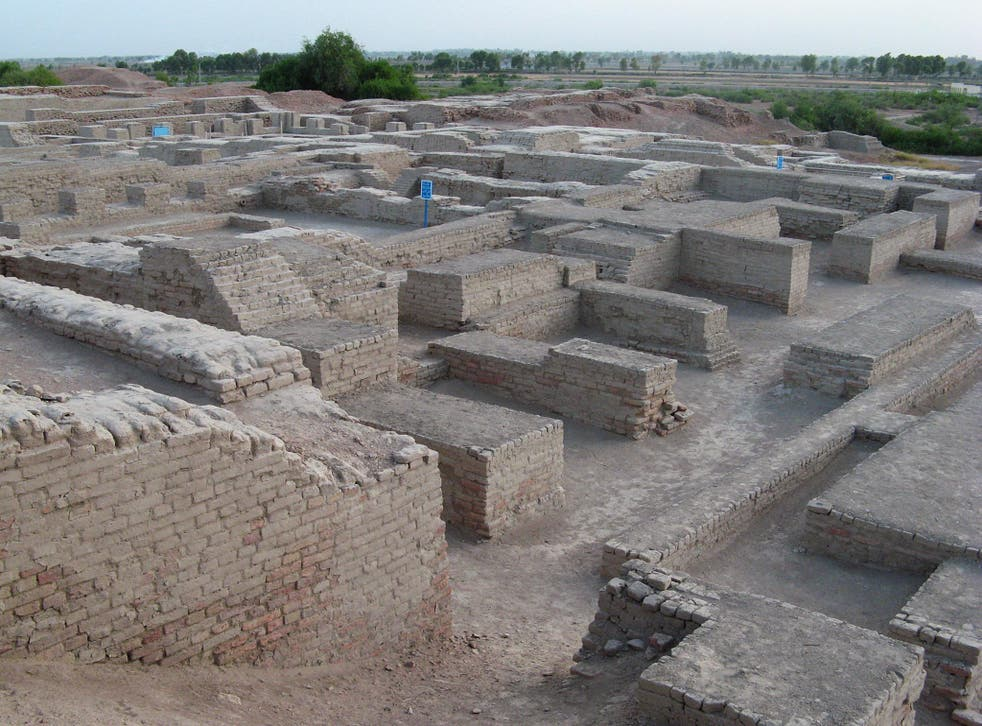 A city settlement at the Mohenjo-daro in Pakistan