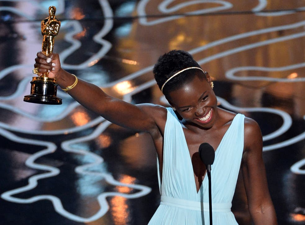 Lupita Nyong wins the Oscar for Best Performance by an Actress in a Supporting Role