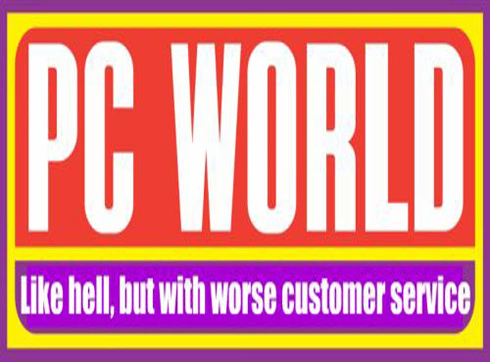 The logo listed by Google when you search online for 'PC World'