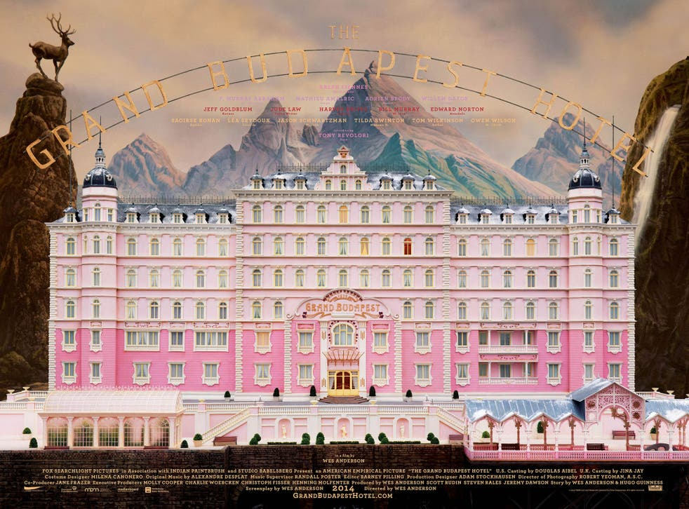 The film poster for the 'Grand Budapest Hotel'