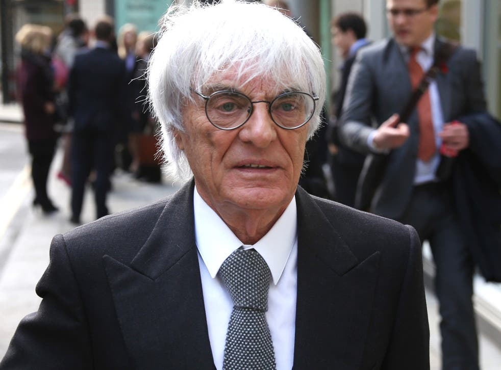 Bernie Ecclestone leaves court last month after winning his civil case