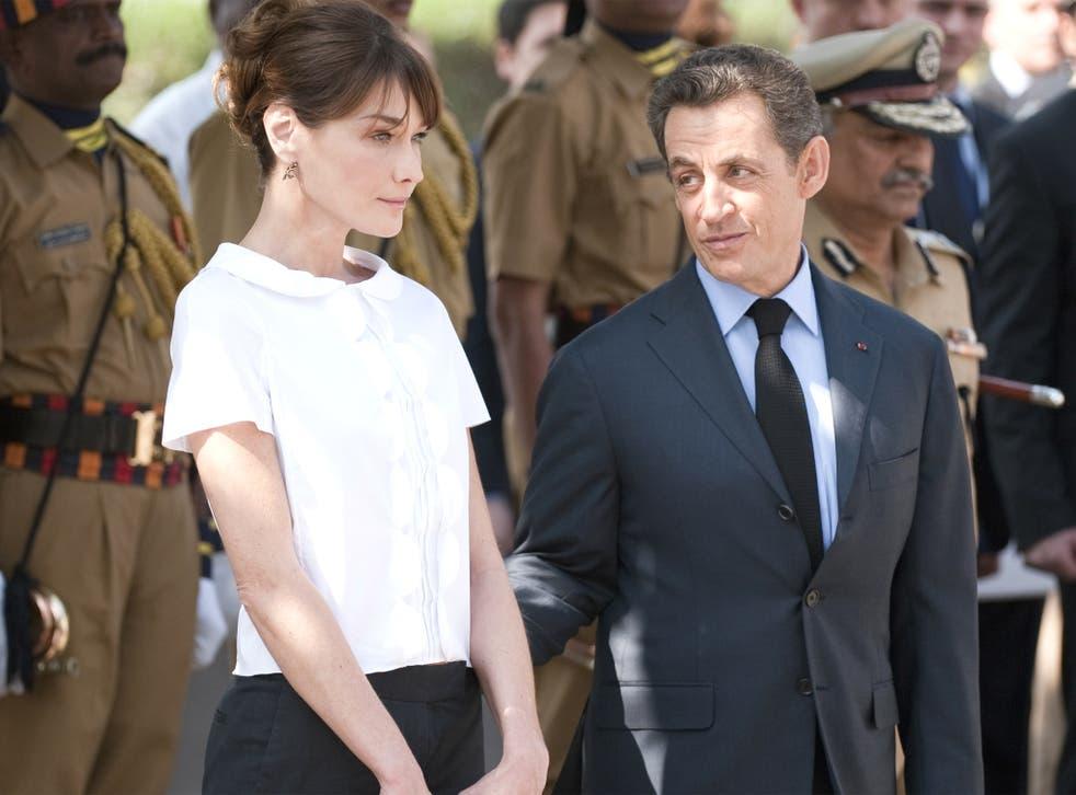 Former French President Nicolas Sarkozy and his wife Carla Bruni-Sarkozy