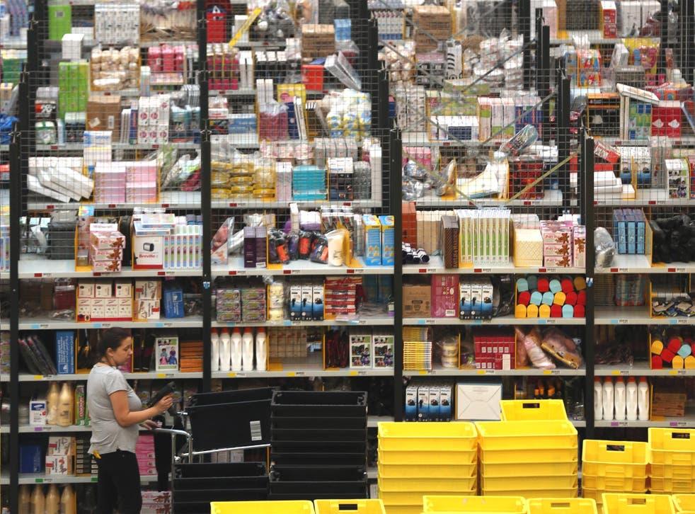 Shelf life: an Amazon warehouse in Peterborough
