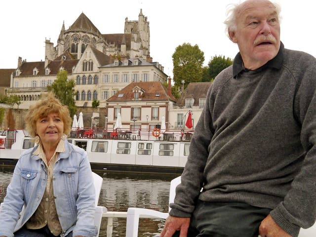 Timothy West and Prunella Scales in 'Great Canal Journeys'
