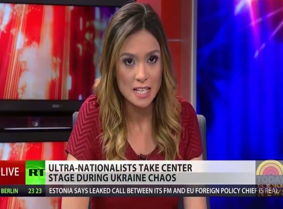 American news anchor Liz Wahl