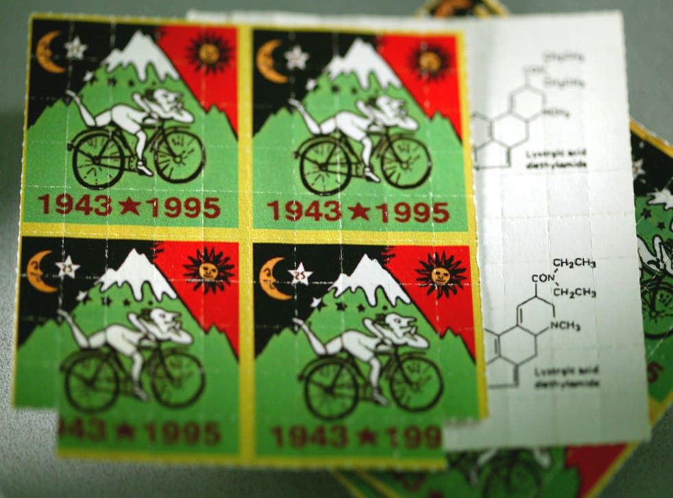 Sheets of LSD tabs
