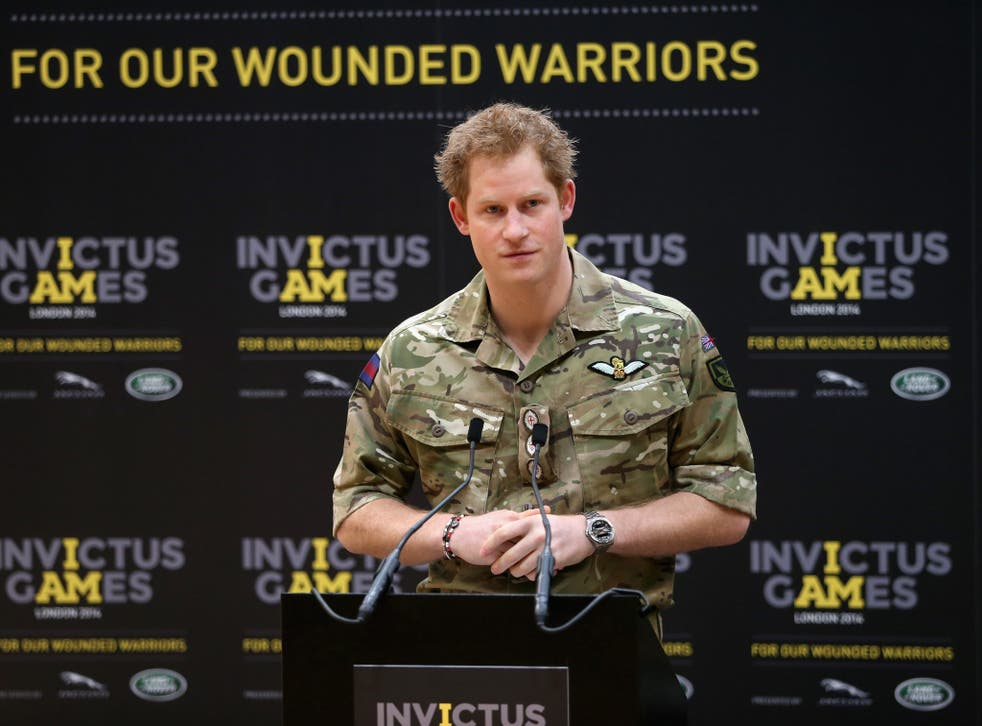 Prince Harry pictured at the launch of the Invictus Games