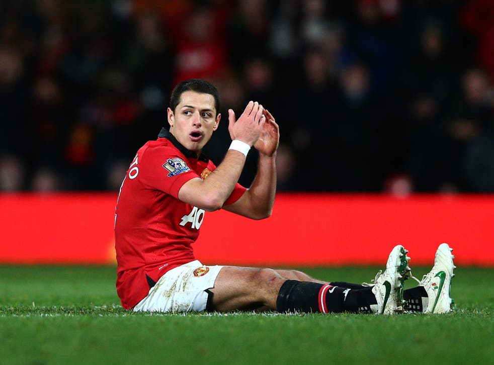 Javier Hernandez has suffered a knee injury in Mexico's 0-0 draw with Nigeria
