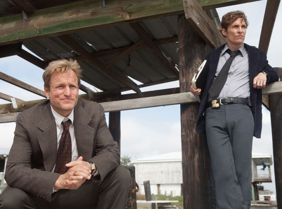 Woody Harrelson (left) and Matthew McConaughey in the first season of True Detective