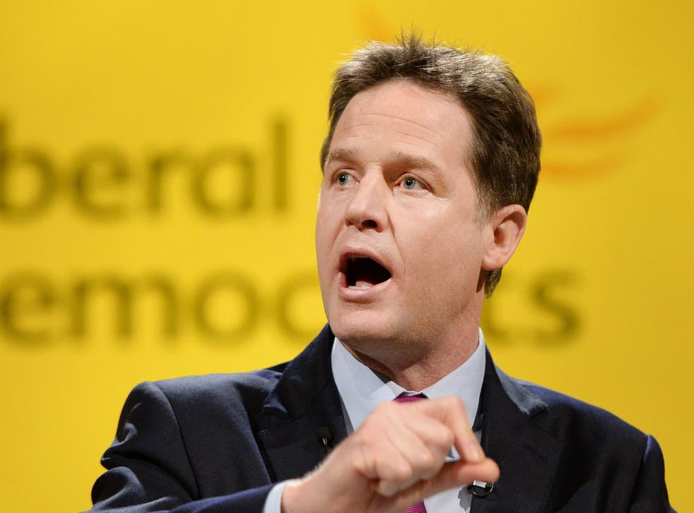 Nick Clegg wants to emphasise the party's role in the economic recovery
