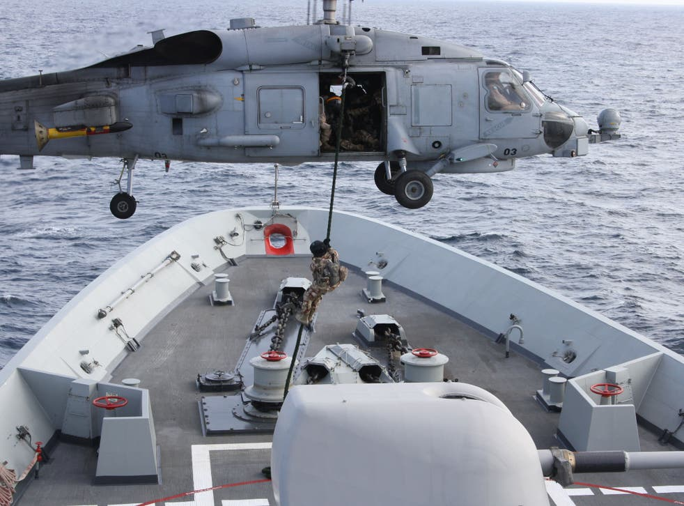 Nato warships and helicopters patrol the Red Sea to protect one of the world's busiest shipping lanes