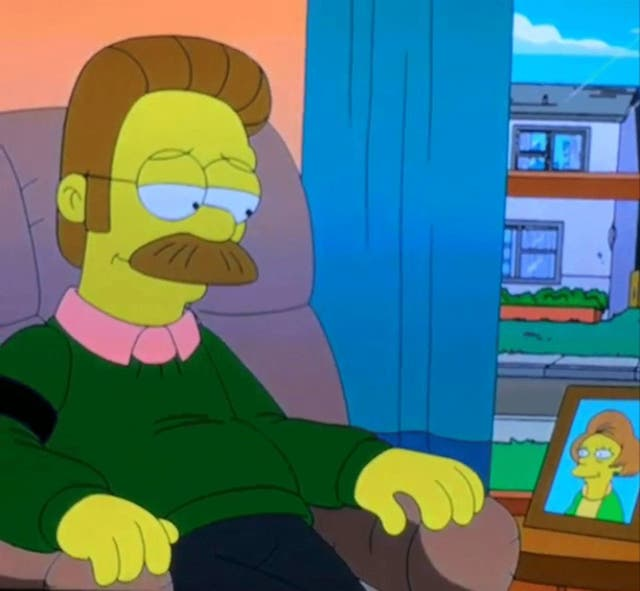Flanders and Nelson shared a sweet moment in The Simpsons