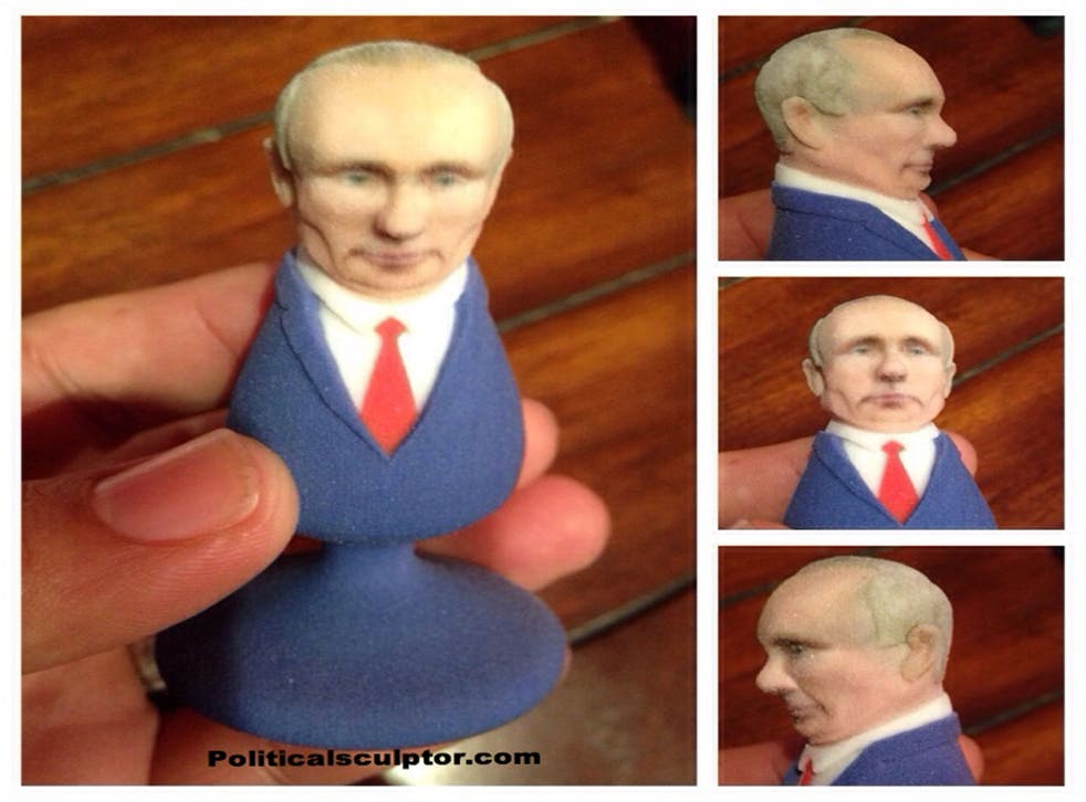 A case par excellence is graphic designer and self-described political sculptor, Fernando Sosa, who has his come up with his own unique way of (ahem) sticking it to Russia's favourite alpha male.