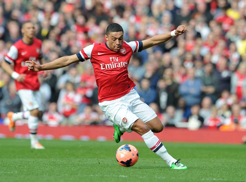 Alex Oxlade-Chamberlainis expected to feature for Arsenal against Tottenham