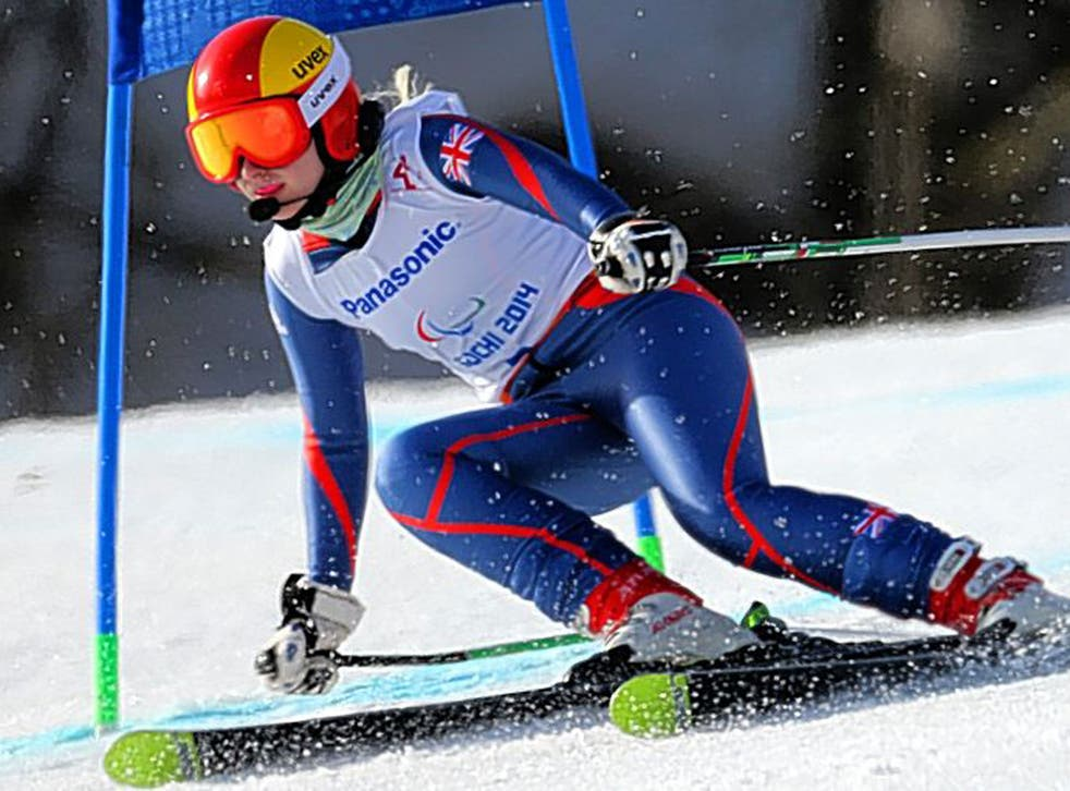 Fast and fearless: Kelly Gallagher on her way to winning gold