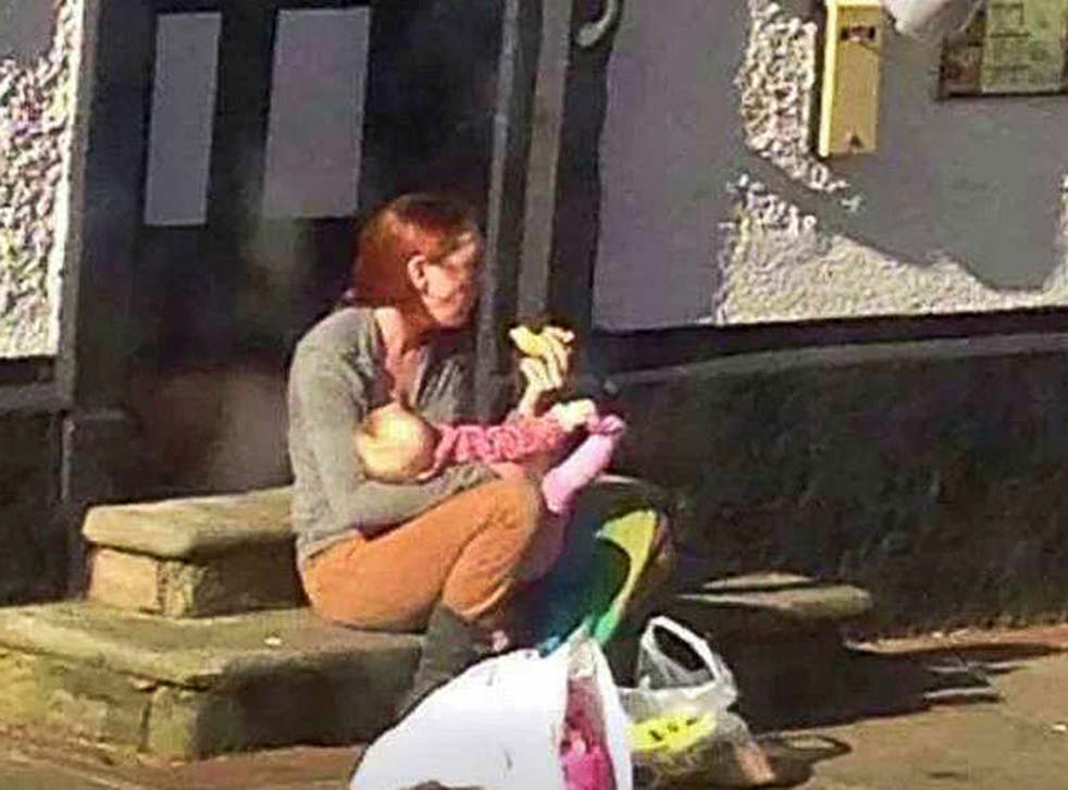 Emily Slough, 27, launched her campaign after a picture of her feeding eight-month-old Matilda was posted on a Facebook page called 'Spotted Rugeley' on Friday