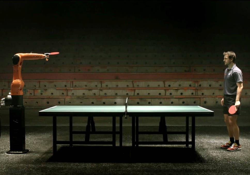 Man V Robot Table Tennis Champion Timo Boll Takes On Kuka Robotic