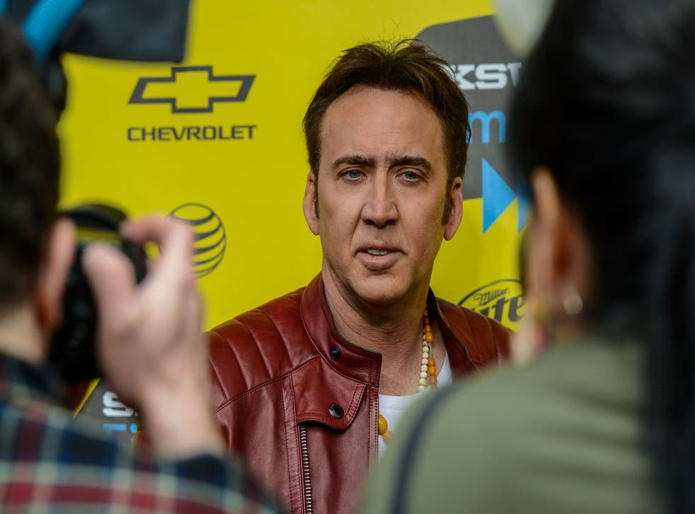 Nicholas Cage, hating being famous, at SXSW Festival in Austin, Texas