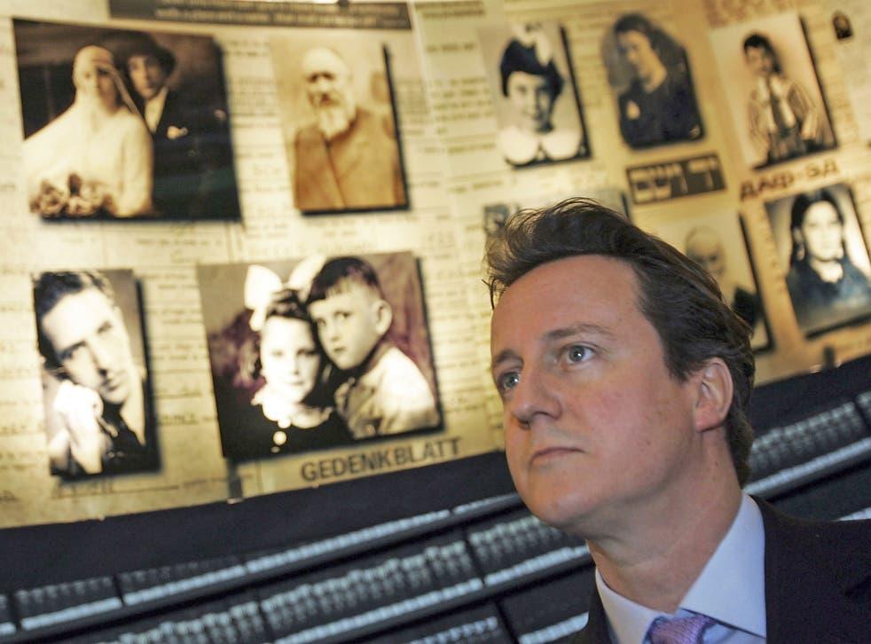David Cameron, at Yad Vashem, visited Israel before he was PM