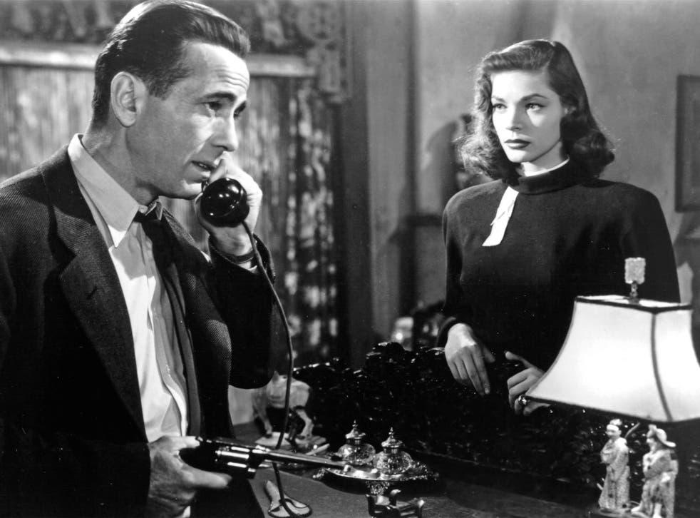 Hello, my lovely: Humphrey Bogart plays Raymond Chandler's private eye in 'The Big Sleep', alongside Lauren Bacall