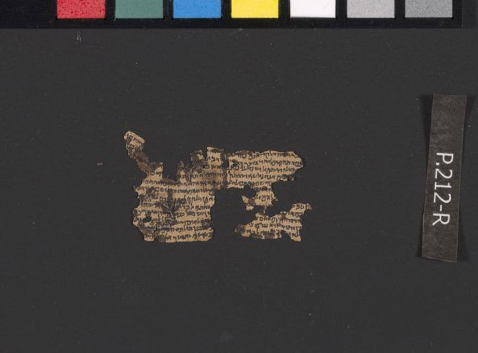 An unrolled tefillin parchment from Qumran