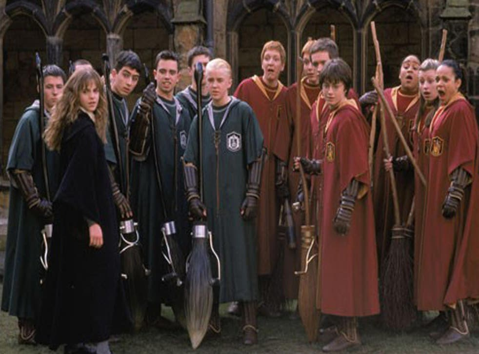 Quidditch players in the film 'Harry Potter and the Chamber of Secrets'
