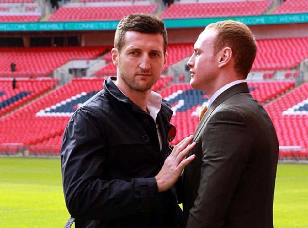 "Underdog Groves (right) had ""wound up"" Froch (left) by impudently pricking his renowned ego at every turn"