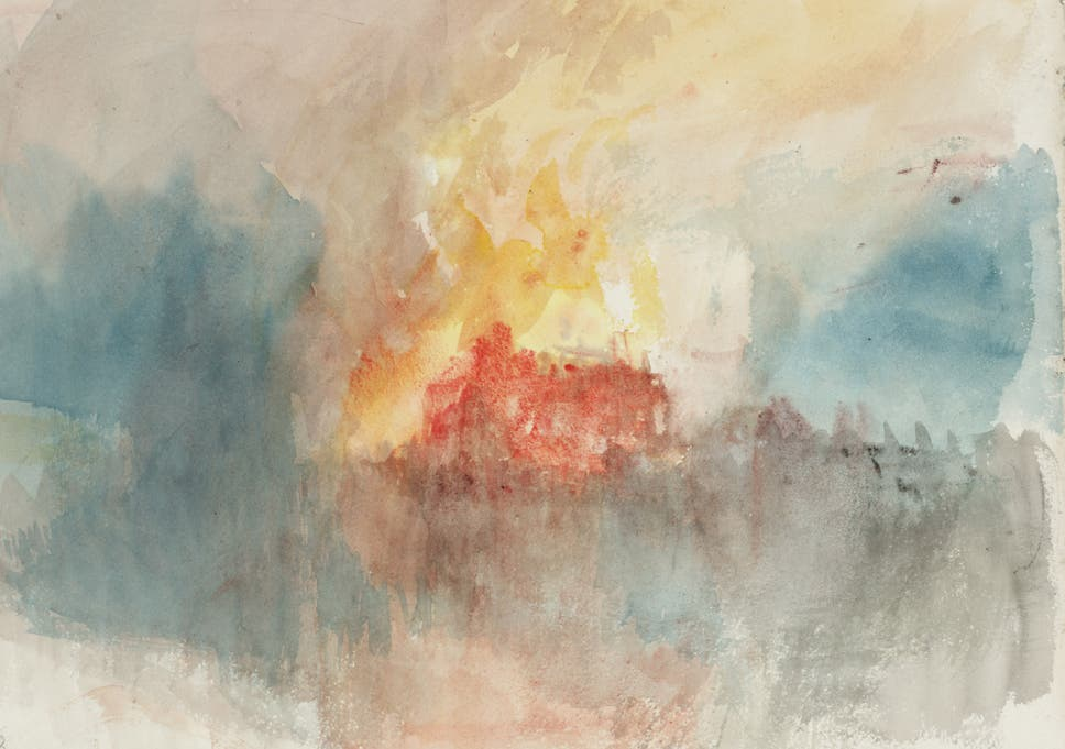 jmw turner the burning of the houses of parliament