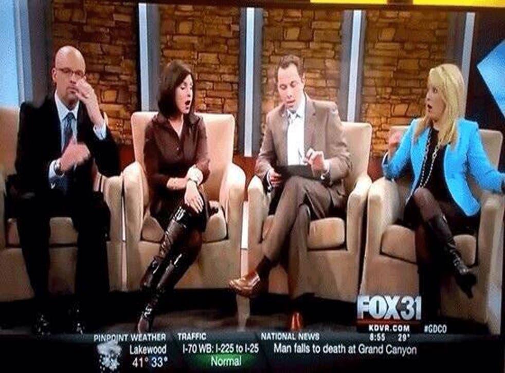Fox31 team react to the image stream