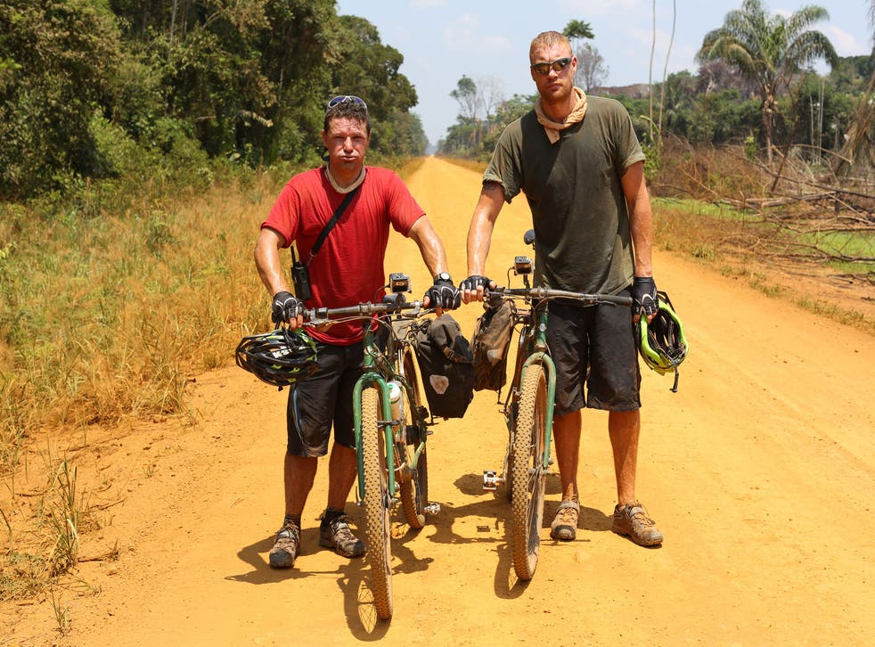 Rob and Freddie on the Trans-Amazonian Highway, near Jacareacanga
