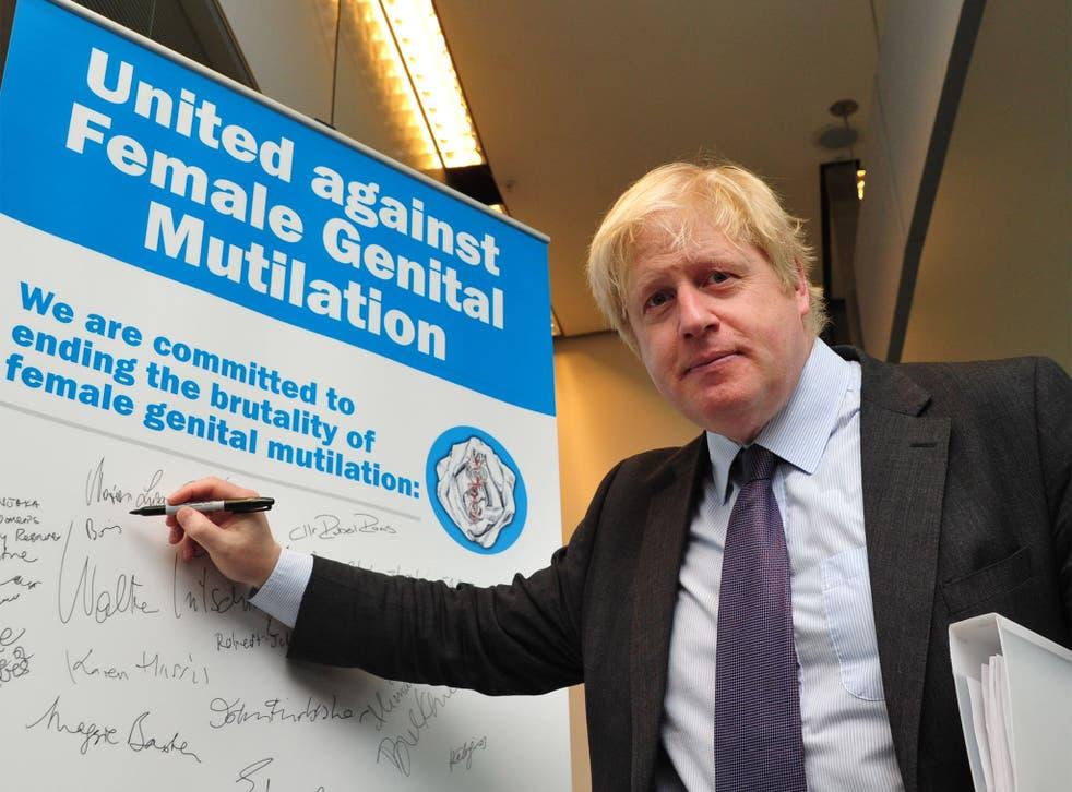 London Mayor Boris Johnson at the Uniting Against Female Genital Mutilation press conference at City Hall