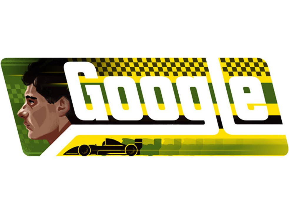 Google has celebrated what would have been Ayrton Senna's 54th birthday with its latest doodle